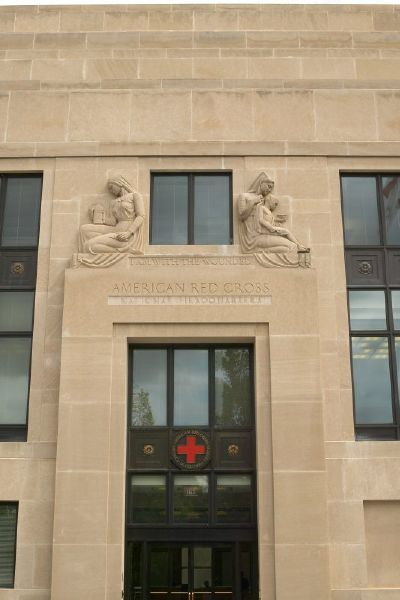 A picture of an American Red Cross building.