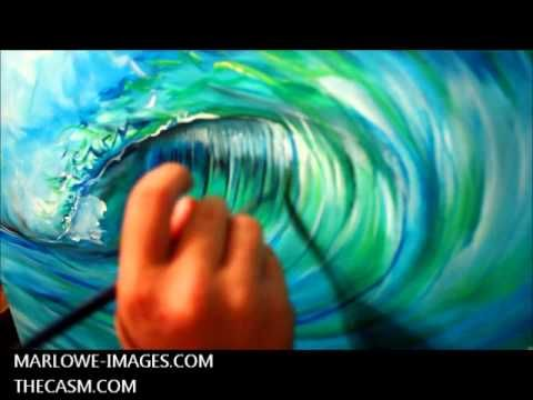 Wave Speed Painting - YouTube
