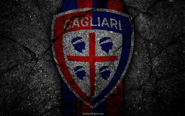Lataa kuva - Cagliari, logo, art, Serie, jalkapallo, football club, - Cagliari Calcio, asfaltti rakenne