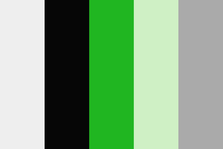 Green Black White Color Palette