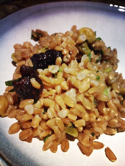 Try this fresh, healthy Farro Salad for a perfect pairing with Spring!