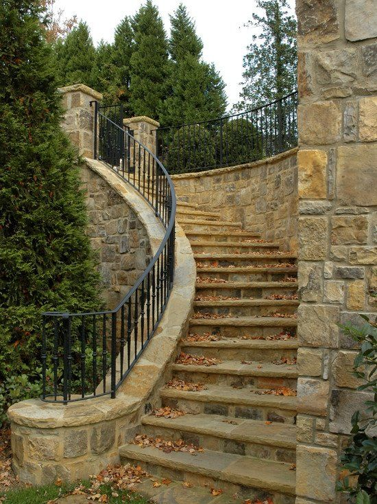 Exterior Wrought Iron Stair Railings Design, Pictures, Remodel, Decor and Ideas | Exterior ...