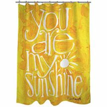 Home Yellow Shower Curtains Shower Curtains Walmart You Are My Sunshine