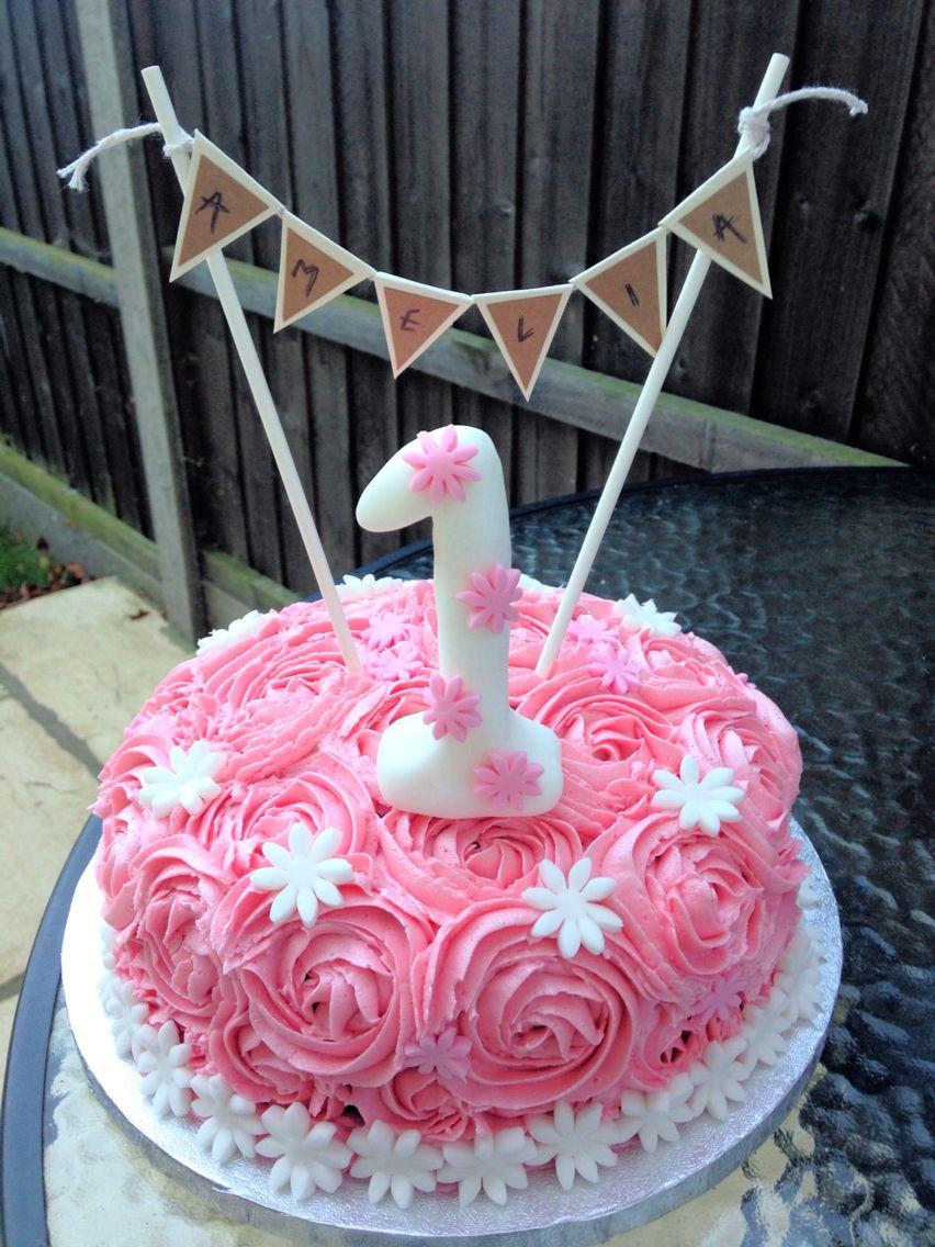 Girls 1st birthday cake!