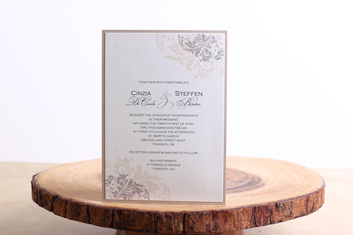 Elegant Floral Wedding Stationery