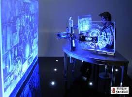 1/6 Scale tony Stark Computer Hologram Table Diorama (Iron ... Iron Man Holographic Computer
