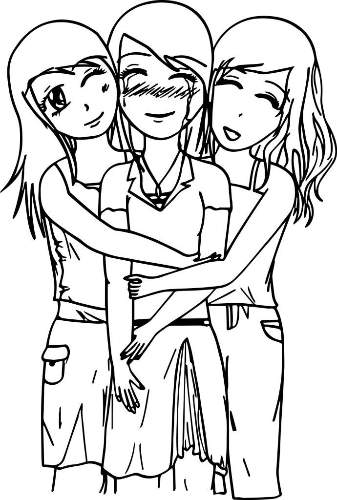 Best Friends Coloring Pages Best Coloring Pages For Kids Best Friend Drawings Drawings Of Friends Cute Best Friend Drawings