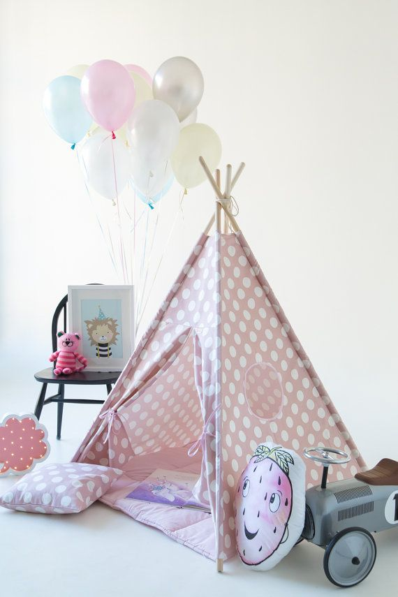 Canvas Teepee Set including Poles and Mat