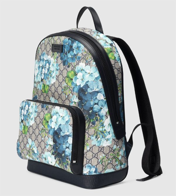 395f31e6712 Must-have accessories 2016  Gucci Blue GG Blooms printed backpack ...