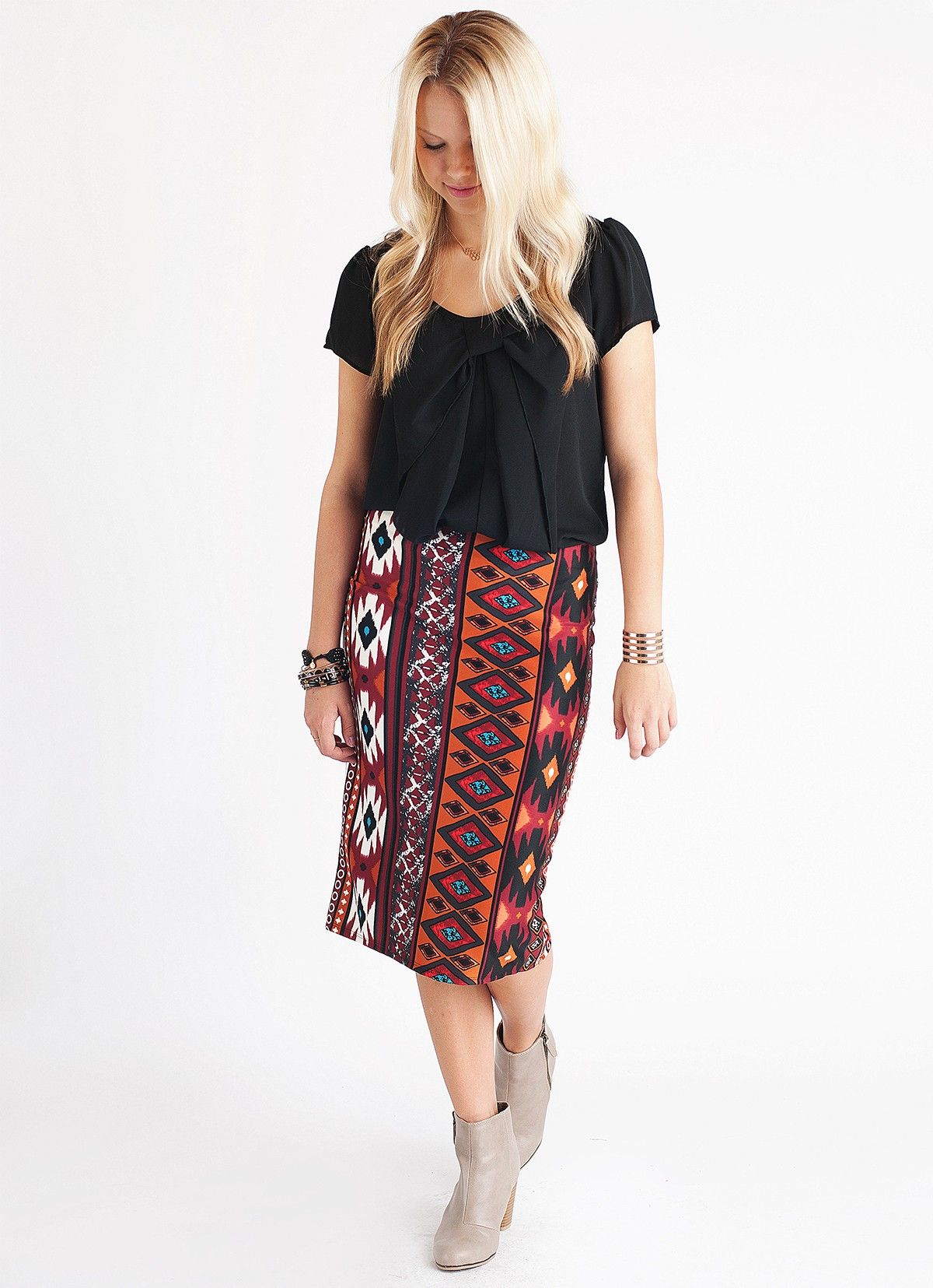 4fc78d47b2 Lucy and Lyla | My Style | Printed pencil skirt, Skirts, Tribal prints