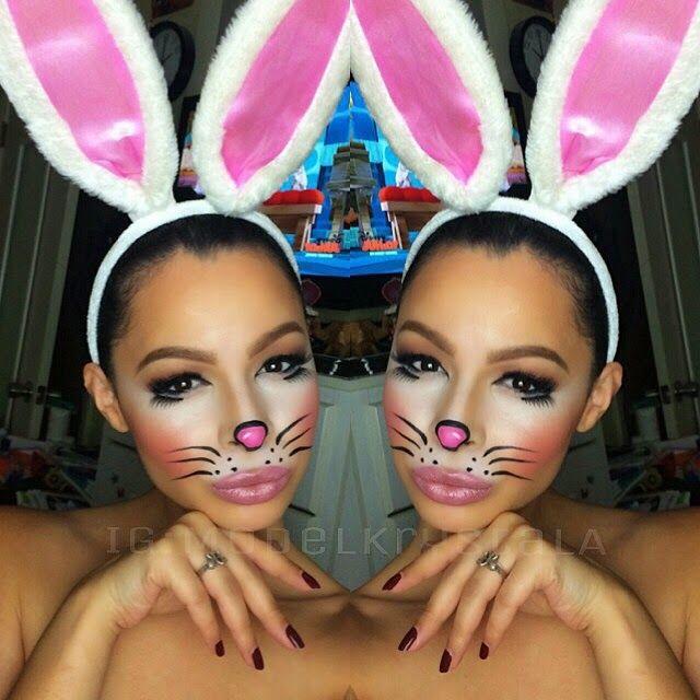 Halloween 2014 Cute Bunny Makeup Bunny Makeup Bunny Halloween Makeup Costume Makeup