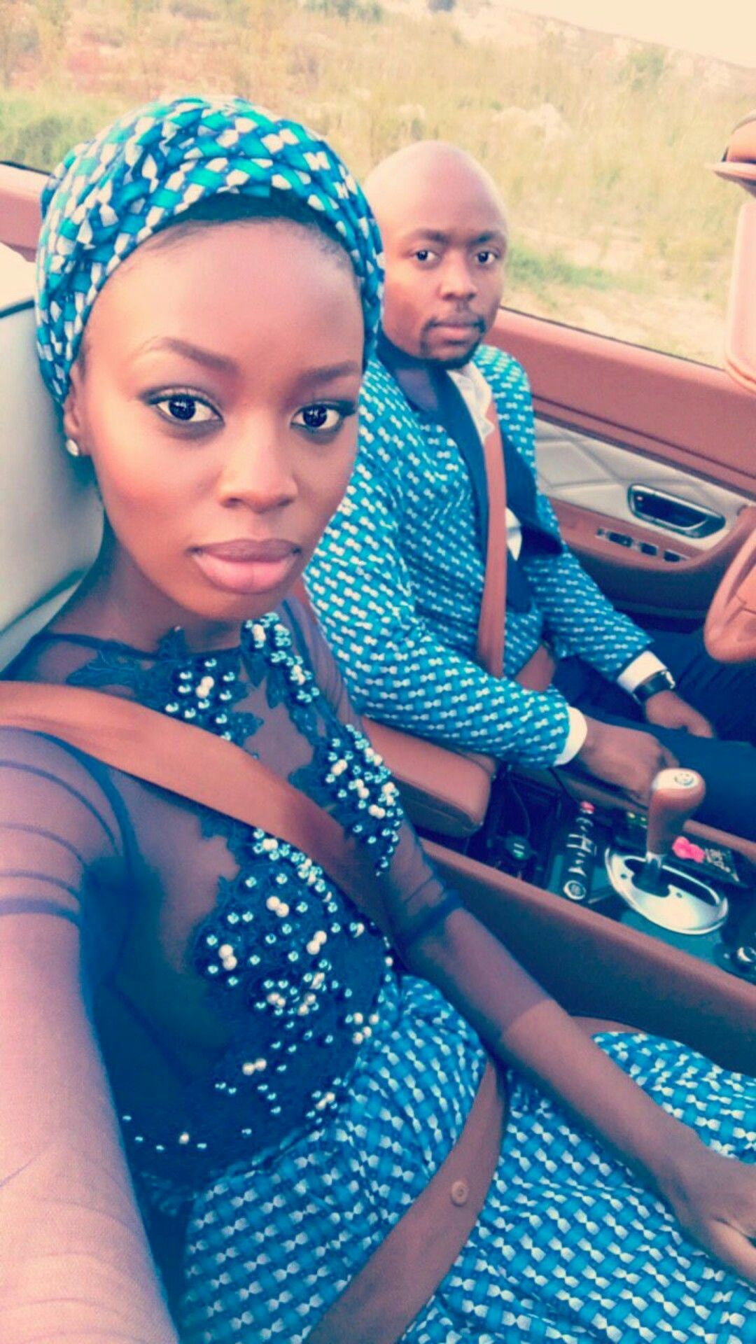 Model Tshepiso Ralehlathe looking gorgeous in her seshweshwe outfit ...