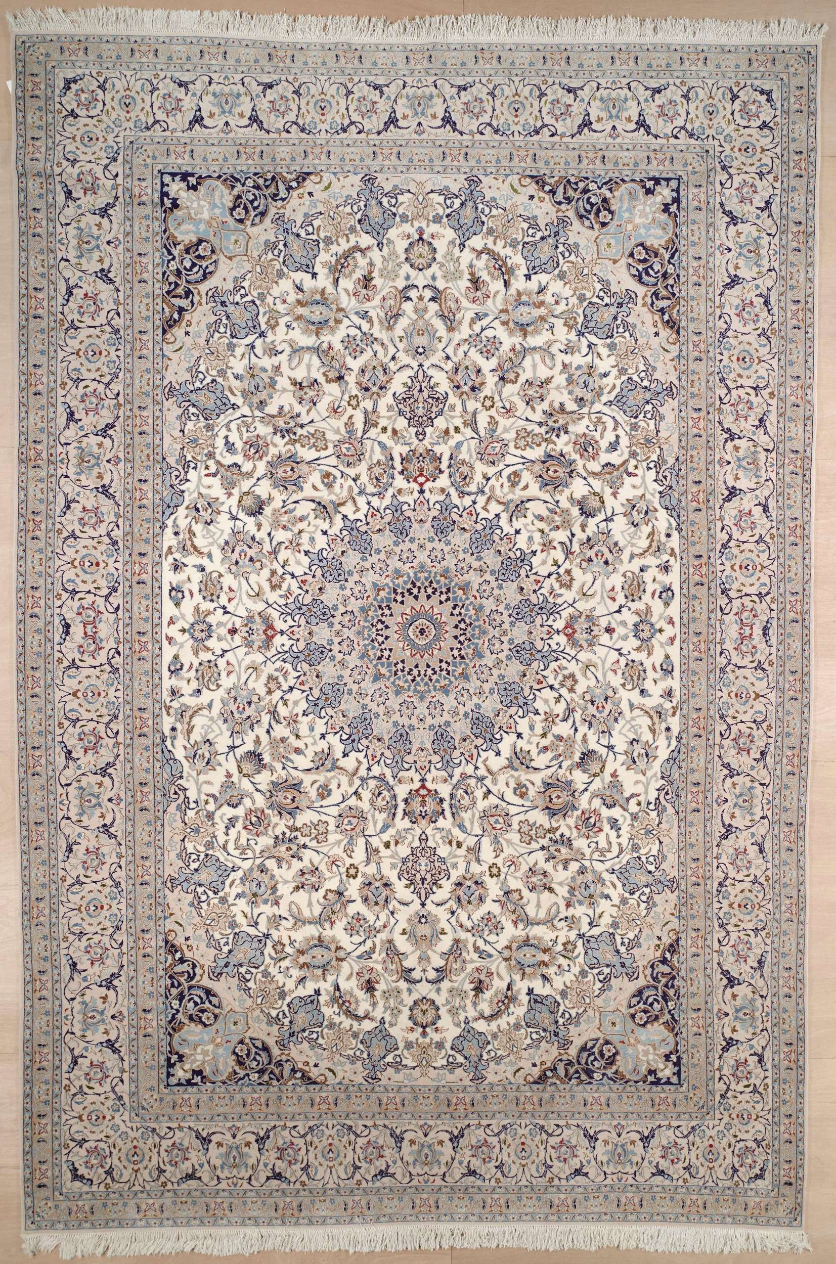 This Beautiful Handmade Knotted Rectangular Rug Is Approximately