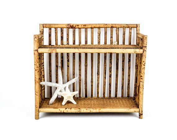 Vintage Bamboo Rattan Wall Shelf / Standing Shelf by tawneyvintage, $42.00