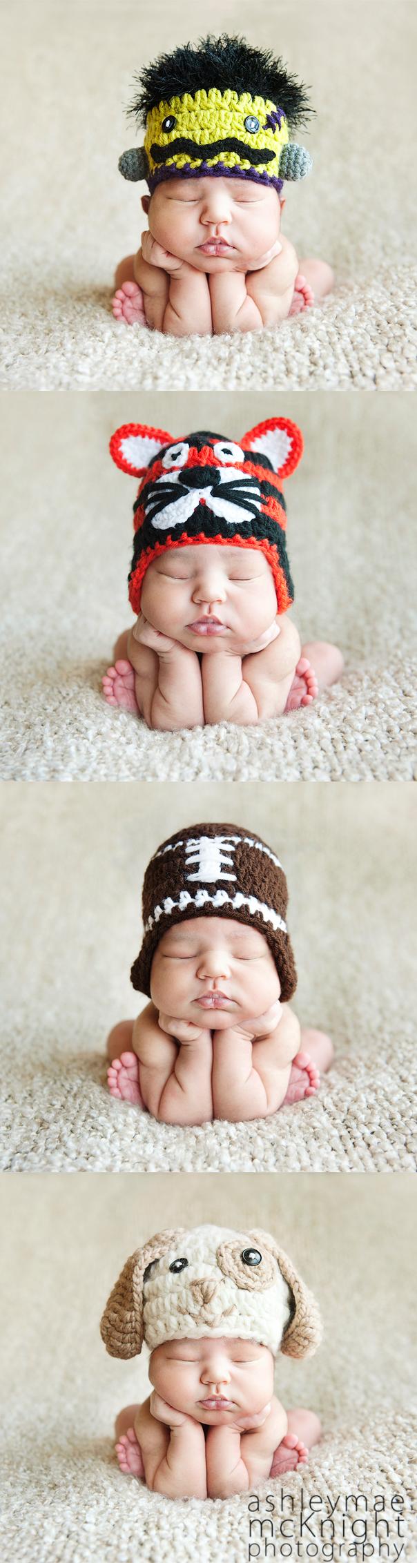 Sweet Kiwi Crochet Baby Hats.