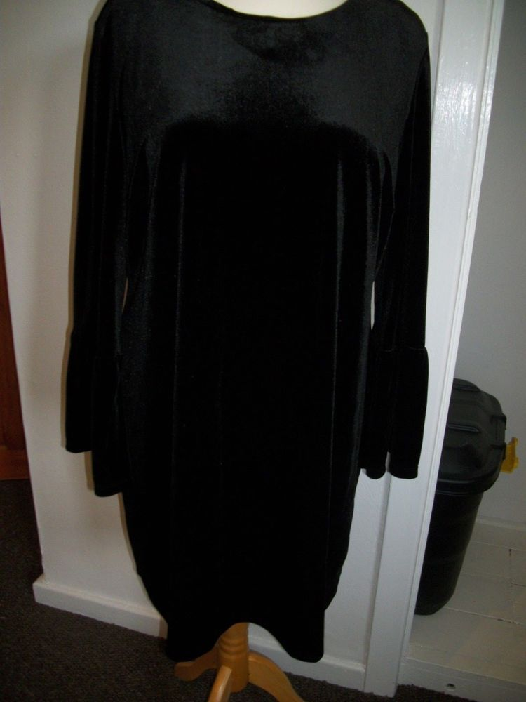 68c66097e2d SIZE 18 BLACK VELVET DRESS FROM GEORGE AT ASDA  fashion  clothing  shoes