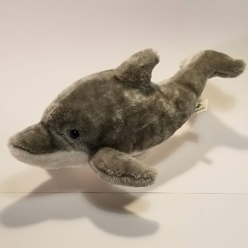 Seaworld Parks Authentic Dolphin Plush Large 17 Stuffed Animal