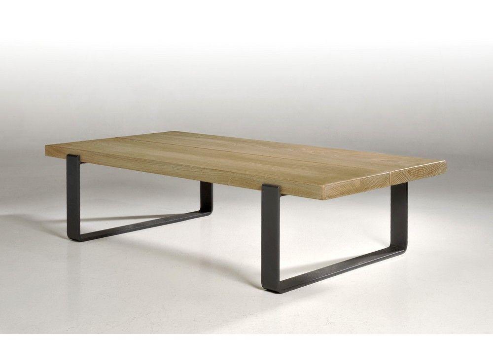 Table Basse En Chene Style Industriel Fabrication Francaise Table Basse Mobilier De Salon Meuble Chene