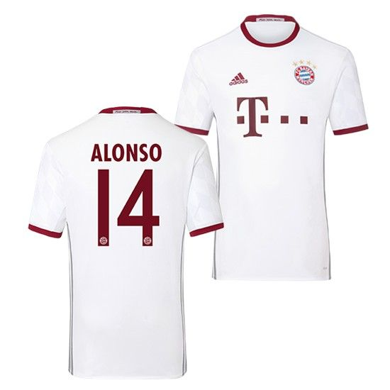 Neue Fussball Trikots Bayern Munchen Grau Alonso 14 Third Saison 2016 2017 Billig Fussball Bayern Munchen Trikots
