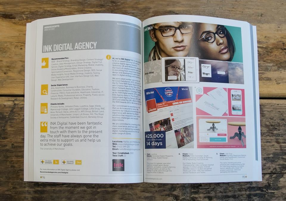 We are featured in Recommended Agencies Register - The Download 2016. Check us out on pages 94-95 #RAR