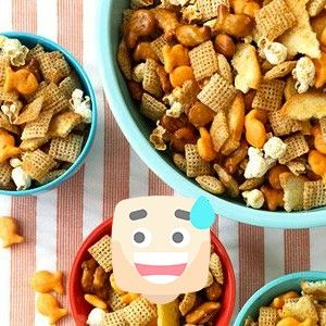 & Salty Crunchy Munch     Your family won't know what they did to deserve their good fortune with this kid-favorite treat, a sweet and salty hodgepodge of snack favorites. Think Chex cereal, popcorn, Goldfish crackers, and bagel chips, drizzled with a melted butter and maple syrup glaze.Sweet & Salty Crunchy Munch     Your family won't know what...