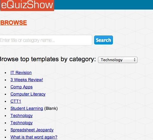 equizshow Create a Jeopardy style game Teacher Stuff Techie - blank jeopardy template