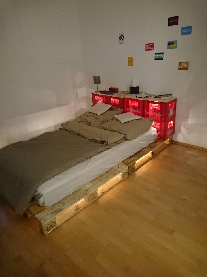 sternburg bett aus bierk sten und paletten von alex clavel diy crate beer sternburg bed. Black Bedroom Furniture Sets. Home Design Ideas