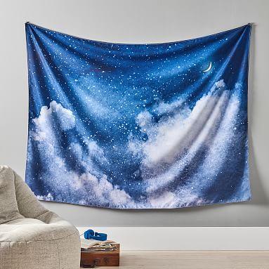 Night Sky Tapestry Pbteen Tapestry Dorm Tapestry