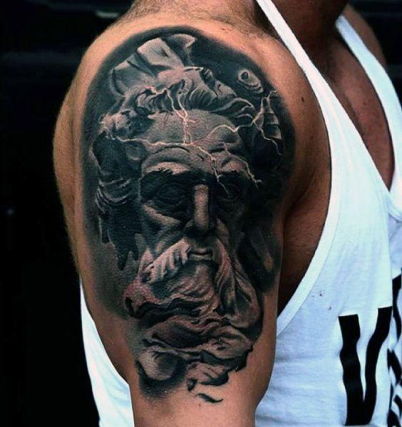 80 zeus tattoo designs for men tattoos for men for Zeus tattoo designs