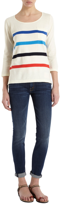 Trovata Striped Three-Quarter Sleeve Top at Barneys.com