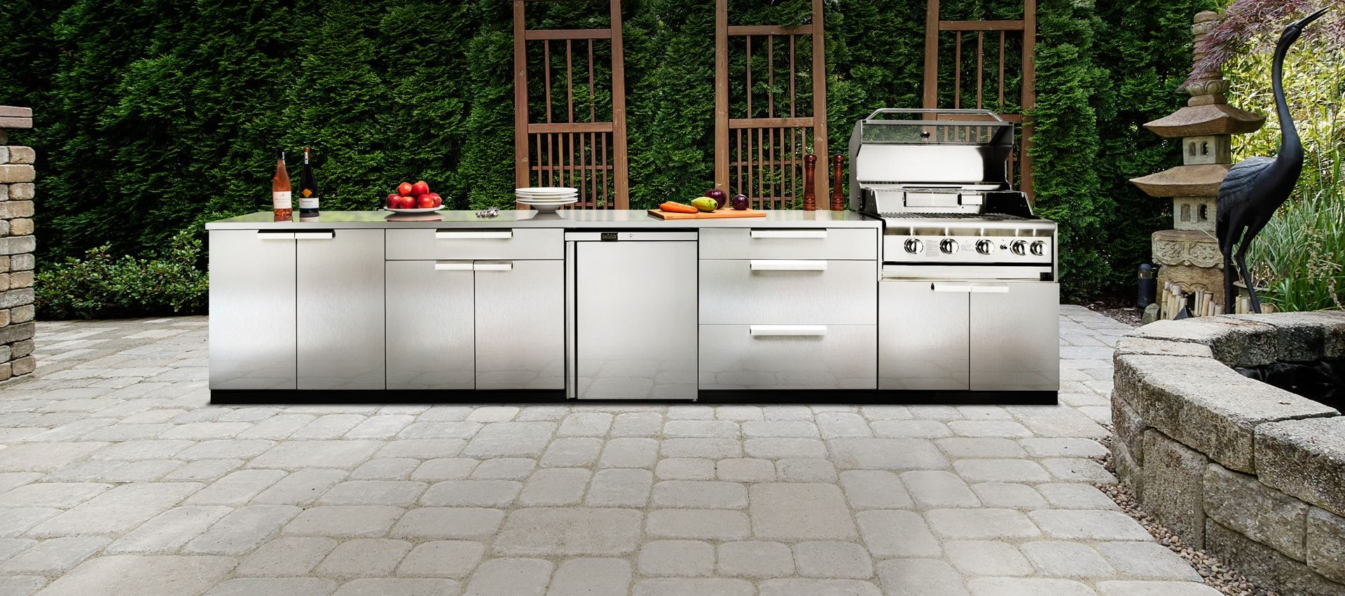 Stainless Steel Stainless Steel Cabinets Outdoor Kitchen Newage Products