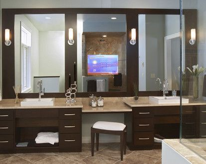 Espresso And Chrome Contemporary Bathroom Master Bathroom