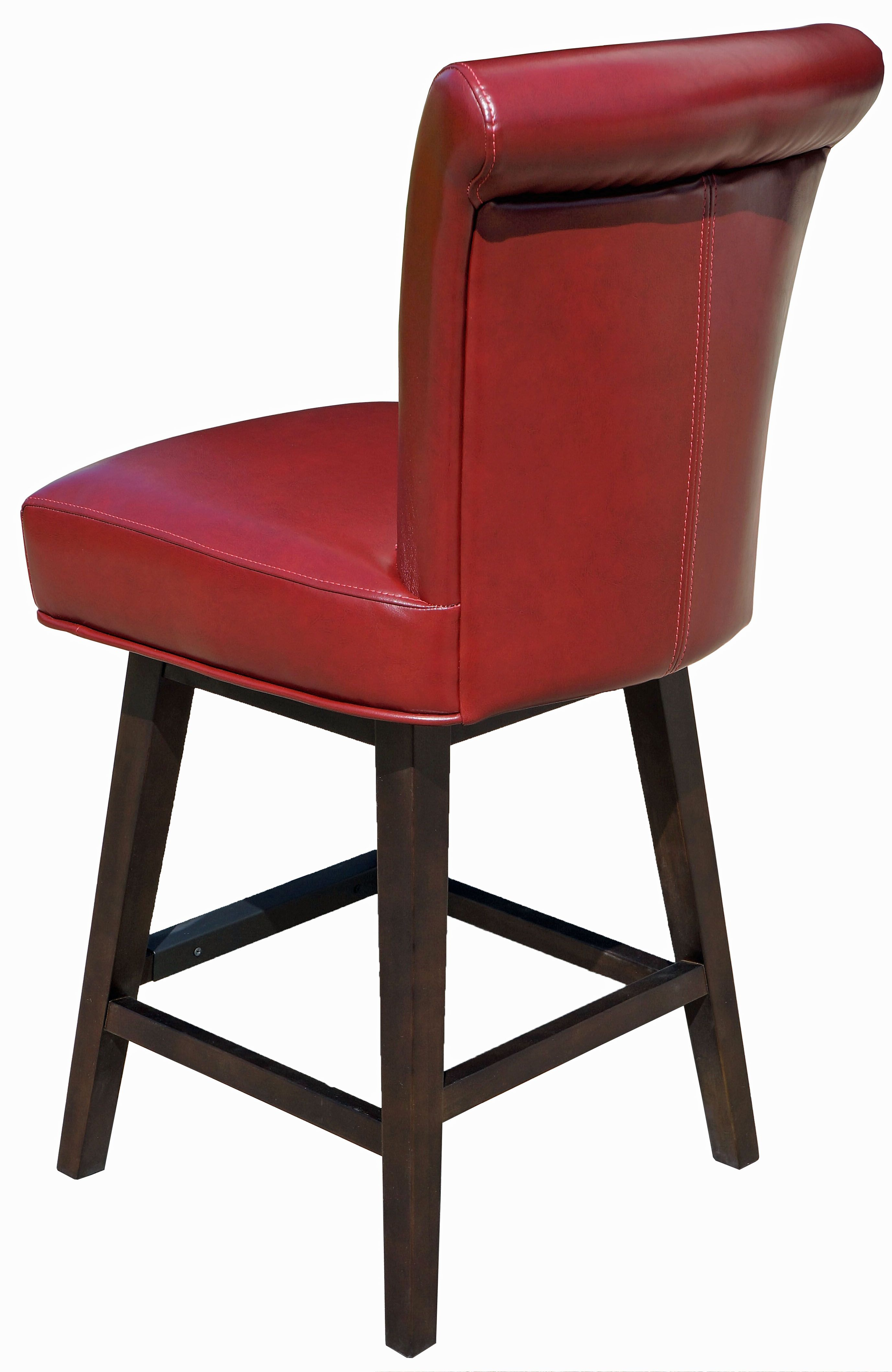 Bar Stools  Kitchen Counter Stools  Red RollBack Swivel