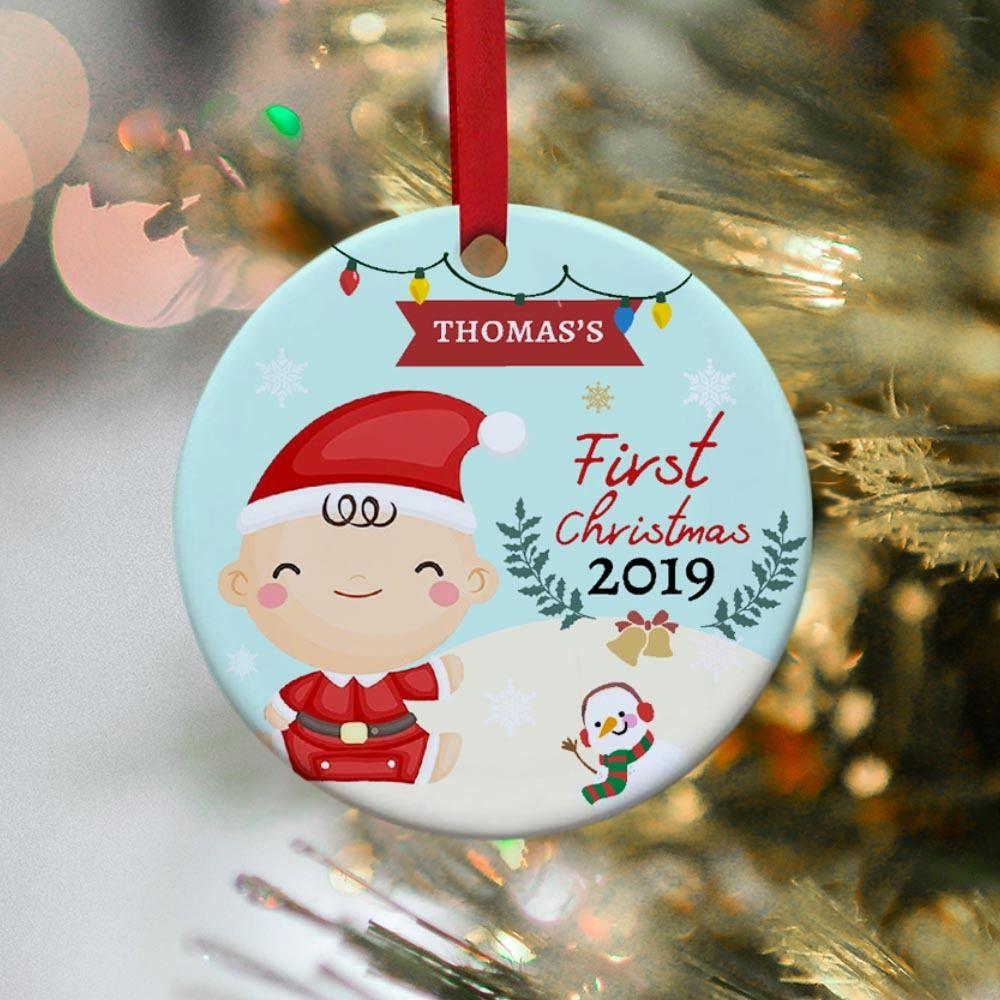 Baby S First Christmas Custom Name Ornament 2020 365canvas Custom Christmas Christmas Ornaments Personalized Christmas Ornaments