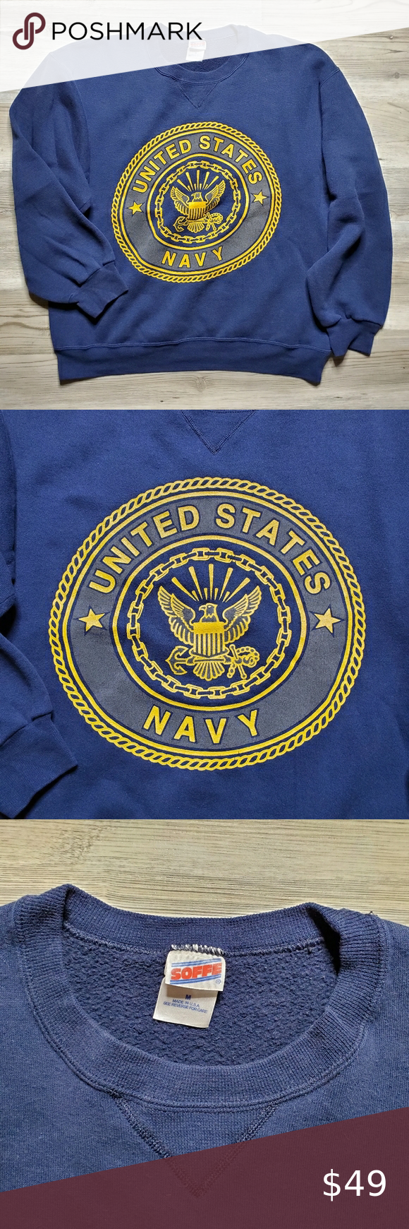 United States Navy Sweater Pullover Mens M Vtg Navy Sweaters Sweater Hoodie Tommy Hilfiger Shirts [ 1740 x 580 Pixel ]