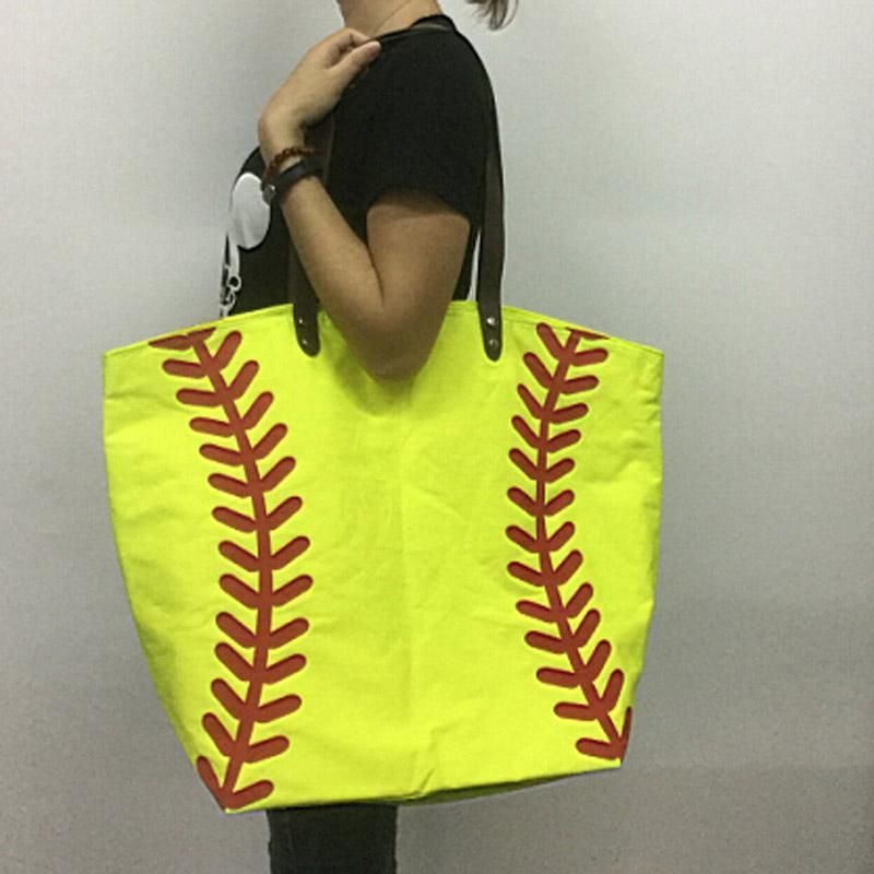 Wholesale Blanks Cotton Canvas Softball Tote Bags Baseball Bag Football  Bags Soccer Ball Bag with Hasps Closure DOM103281 Online with  685.0 Piece  on ... 929adcaac3be