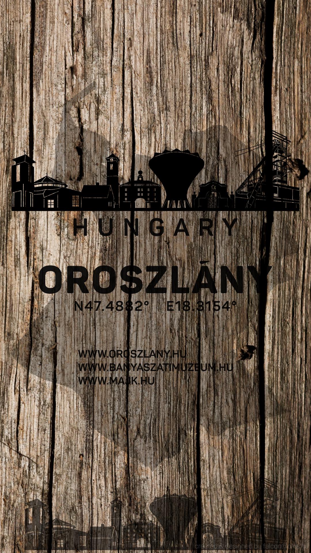 magyarország térkép oroszlány Oroszlány   Magyarország Silhouette SkyLine Art Map for Mobilphone  magyarország térkép oroszlány