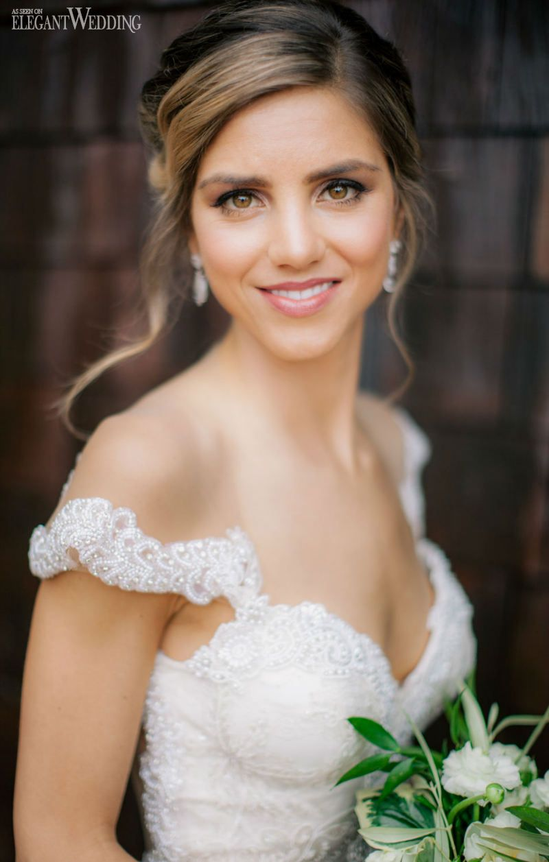 flawless, natural wedding makeup and hair! natural & rustic
