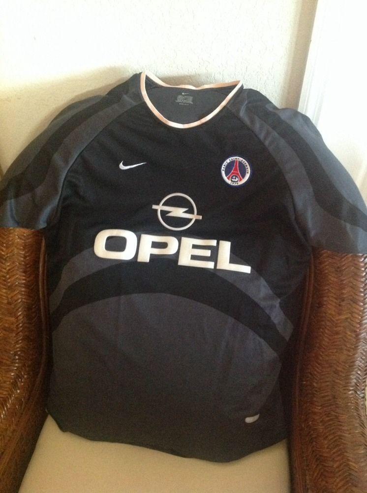 buy popular 3dc2b a75ed Vintage Nike Paris Saint-Germain PSG Football Soccer Jersey ...