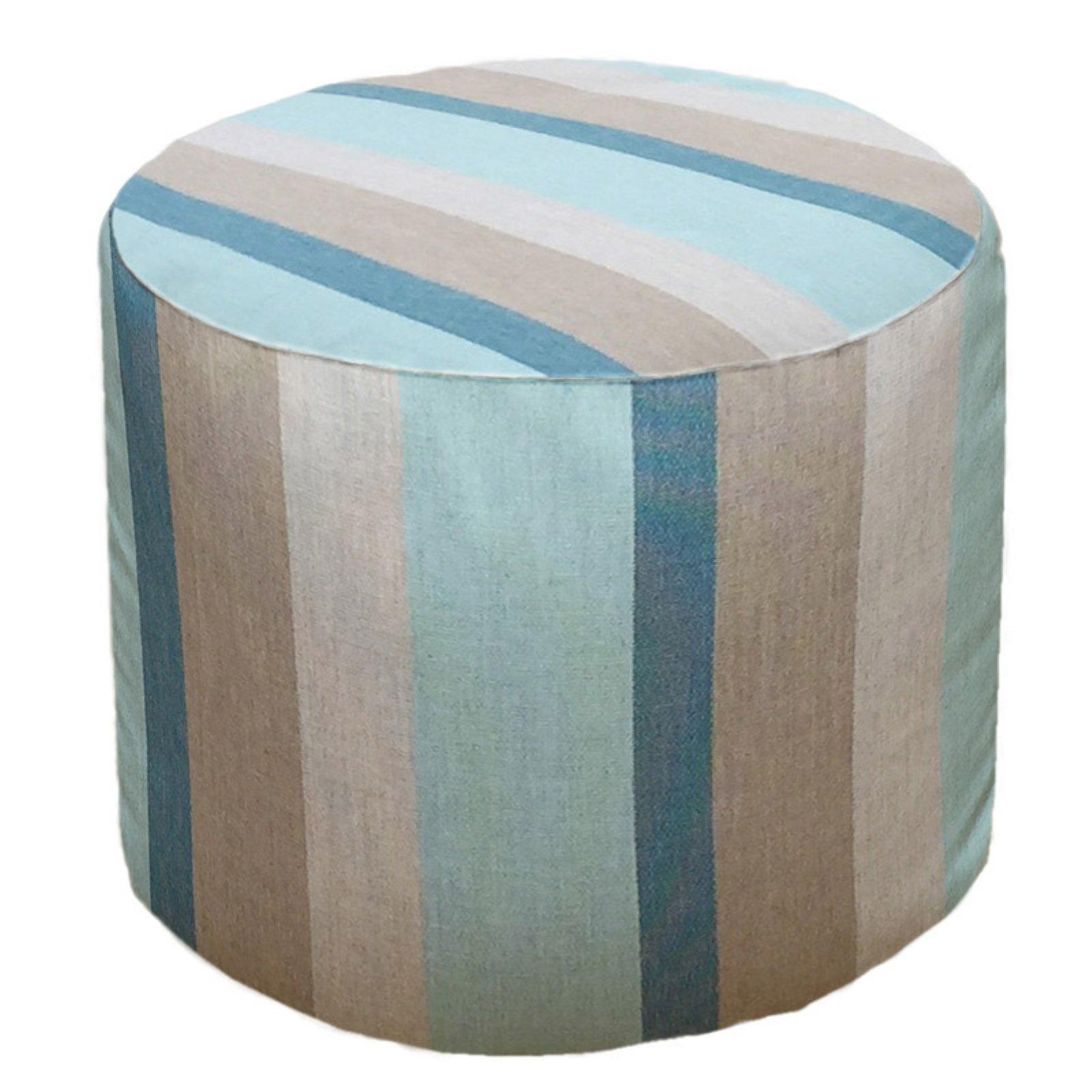Magnificent Core Covers Outdoor Indoor 22 In Round Sunbrella Pouf Machost Co Dining Chair Design Ideas Machostcouk