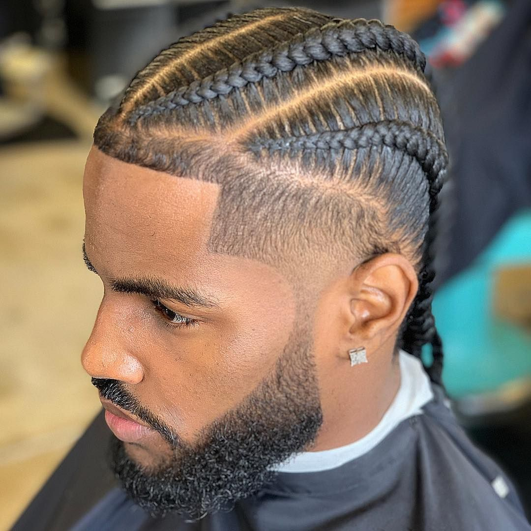 La Barber Matt Johnston On Instagram Blessed The Bro D Rock Hairjordan 310 Went Craz Mens Braids Hairstyles Boy Braids Hairstyles Long Hair Styles Men
