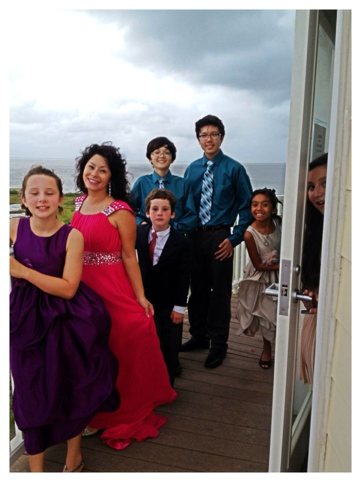 Some of The Bridal Party on the Observatory Deck of the South Padre Island Birding and Nature Center