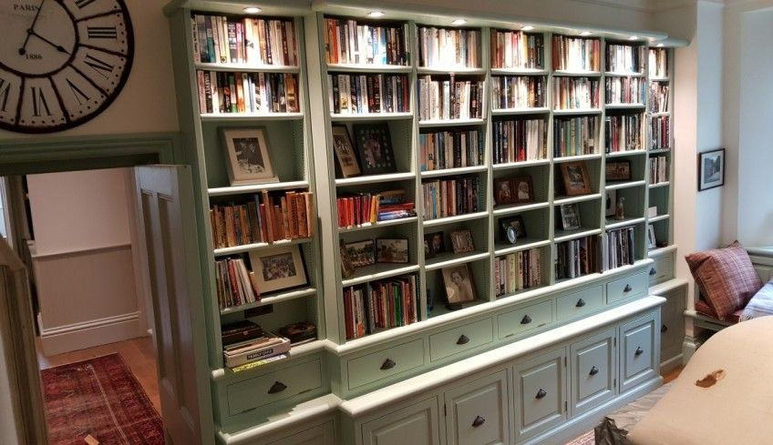 Painted Fitted Bookcase Devon