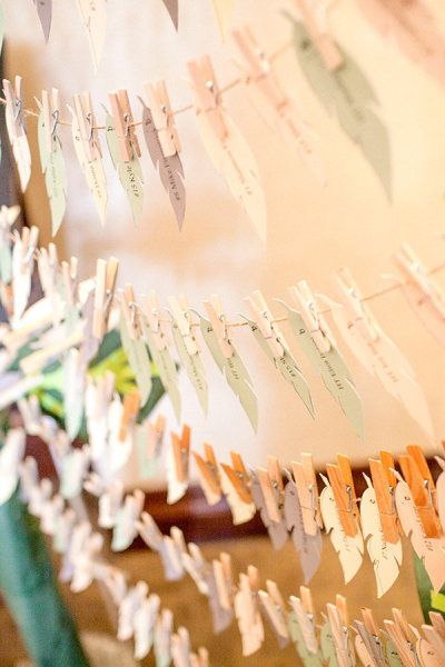 Paper Feather Place Cards by Hoopla Event Design & Styling
