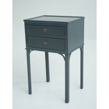 Chelsea Textiles Gustavian Bedside Table With Two Drawers In