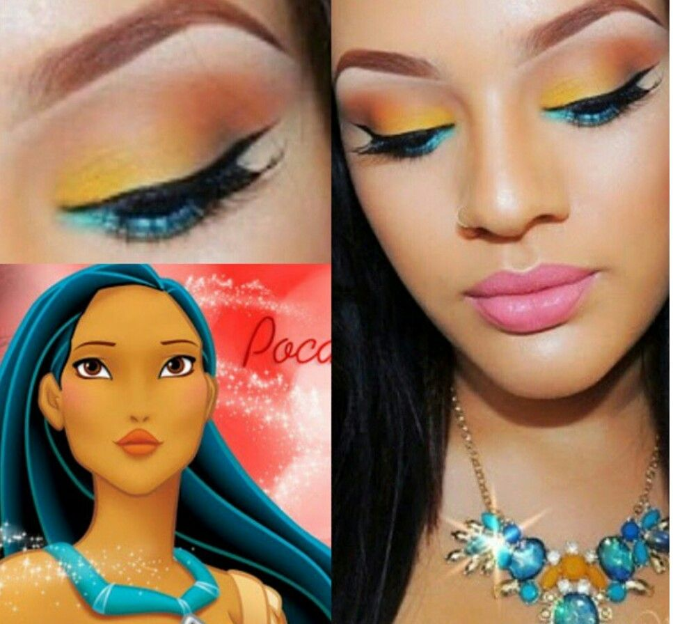Tutorial inspirado nas cores da pocahontas pausa para feminices tutorial inspirado nas cores da pocahontas pausa para feminices tutorials makeup and princess baditri Images