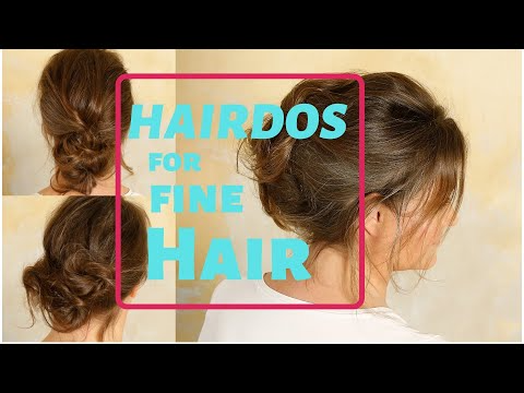11 Easy Hairstyles For Women With Fine And Thin Hair Youtube In 2020 Hairstyles For Thin Hair Hair Styles Diy Hairstyles Easy