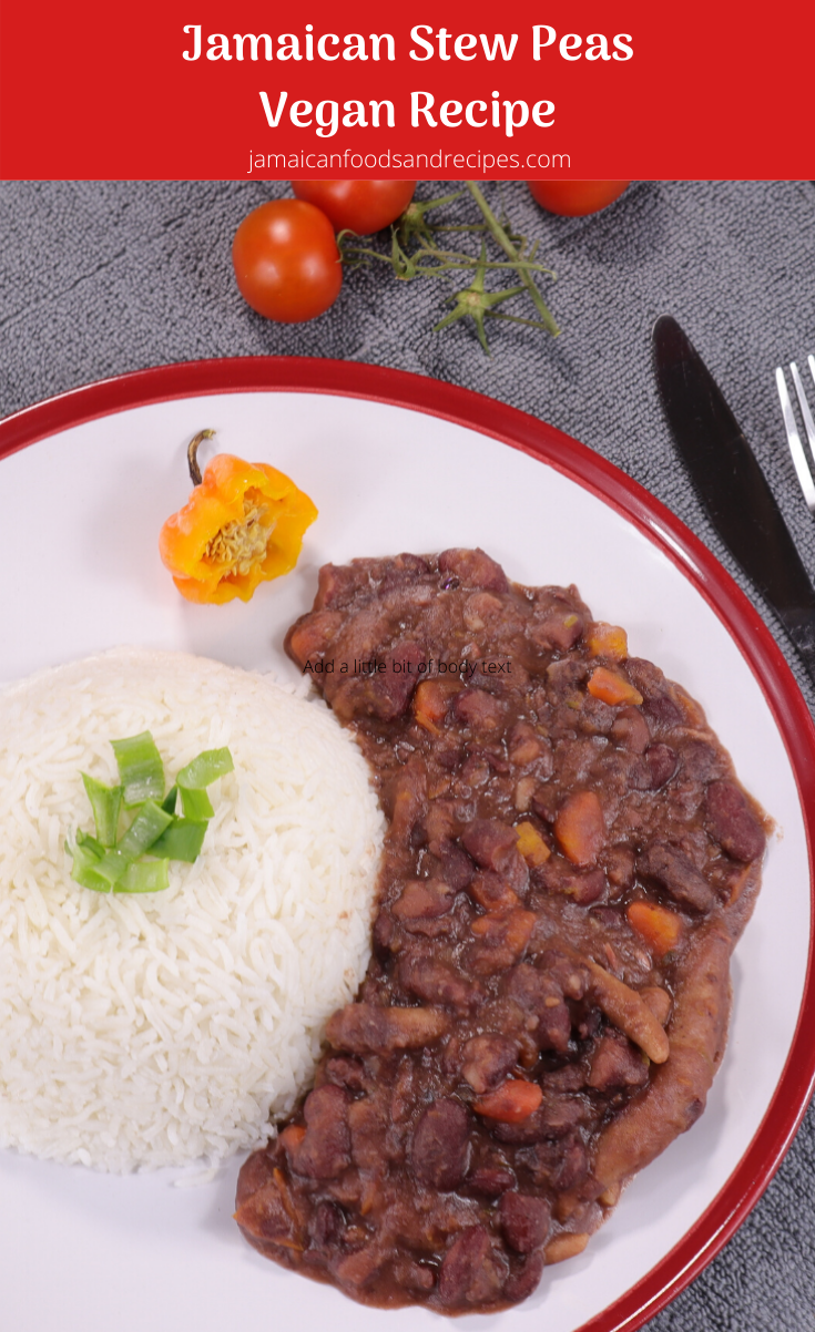 jamaican stew peas without meat vegan recipe  vegan