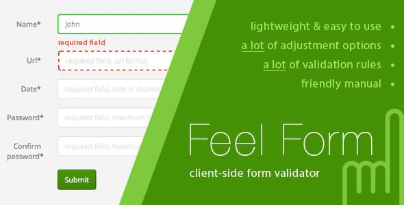 FeelForm - Client-Side Form Validator | Code Script | Check