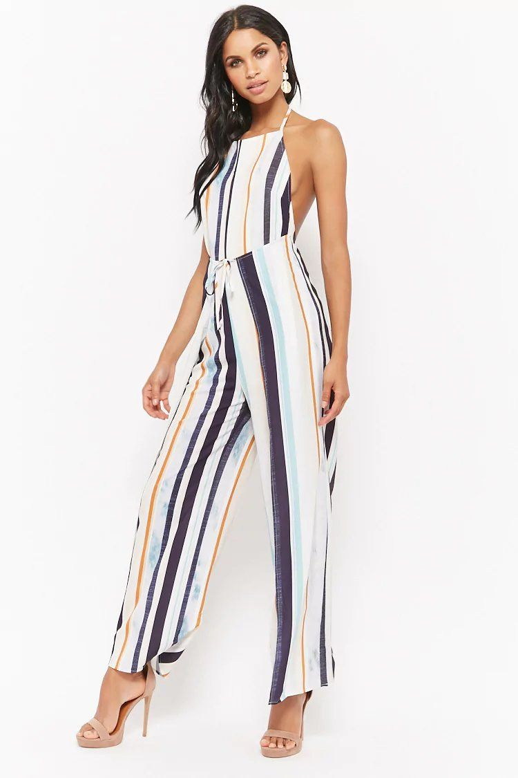 aa62886b020 Product Name Striped Halter Jumpsuit